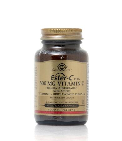 Solgar Ester-C Plus 500mg Vitamin C Βιταμίνες 50 Veg. Caps