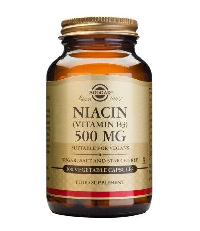 Solgar Niacin (B3) 500mg 100tablets