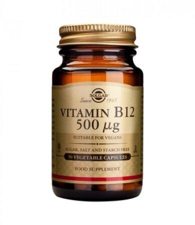 Solgar Vitamin B12 500μg 50veg.caps