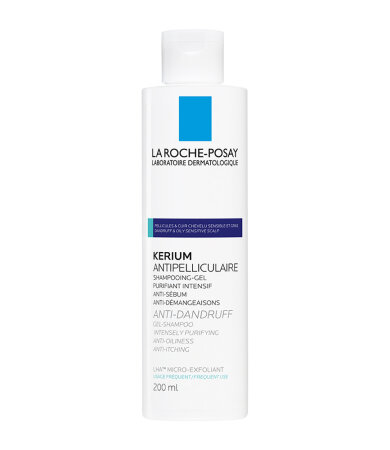 La Roche Posay Kerium Gel Shampoo Σαμπουάν Κατά της Λιπαρής Πιτυρίδας με Μικροαπολεπιστική Δράση 200ml