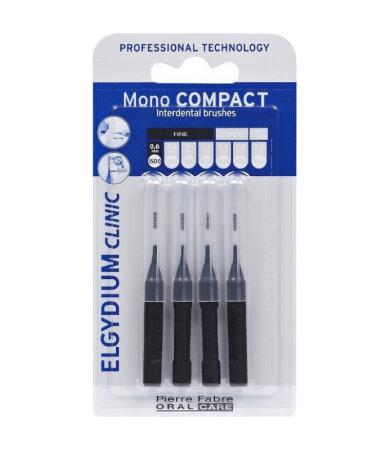 Elgydium Clinic Mono Compact Μαύρα 0.35mm 4 τεμάχια