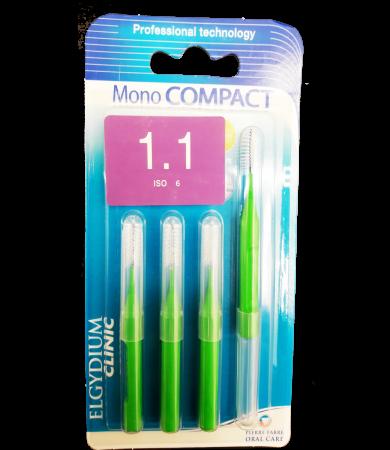 Mono Compact Green 1.1mm - Μεσοδόντια βουρτσάκια 4τμχ