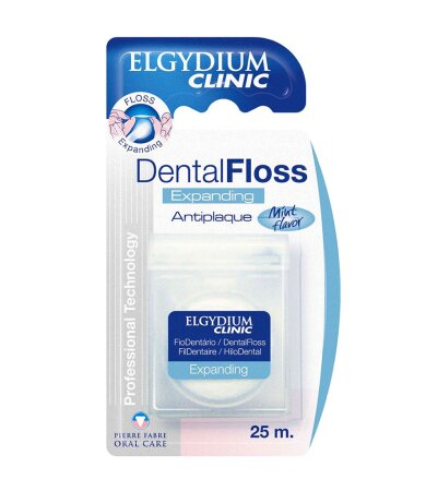 Elgydium Dental Floss Expanding Antiplaque Οδοντικό Νήμα 25m