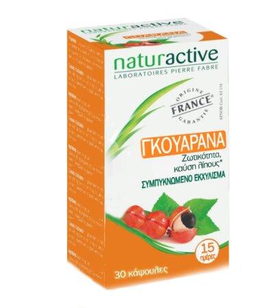 Naturactive Γκουαρανά Συμπλήρωμα για την Ενίσχυση της Τόνωσης 30caps