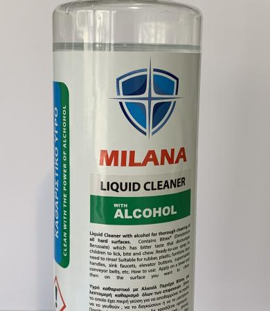Milana Αντιβακτηριακό Αλκοολούχο Καθαριστικό Επιφανειών 500ml