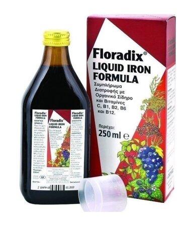 Power Health Floradix Συμπλήρωμα Διατροφής Για Την 'Ελλειψη Σιδήρου 250ml