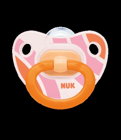 Nuk Classic Happy Days 0-6m Μηνών Πιπίλα Σιλικόνης με Κρίκο  1τεμάχιο