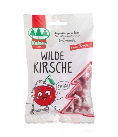 Kaiser Wild Cherry Παιδικές Καραμέλες για το Βήχα Αγριο Κεράσι με Φυσική Βιταμίνη C 60gr