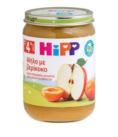 HiPP Φρουτόκρεμα Μήλο & Βερίκοκο από τον 4ο Μήνα 190gr