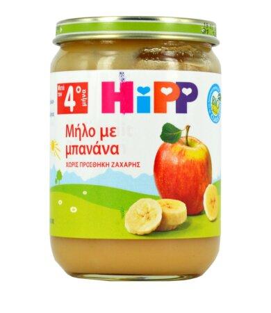 Hipp Βιολογική Βρεφική Κρέμα Μήλο Μπανάνα 190gr