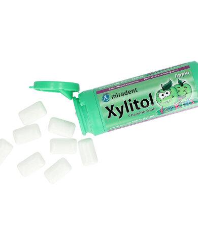 Miradent Οδοντότσιχλα Xylitol Kids  γεύση Μήλο 30 τεμάχια