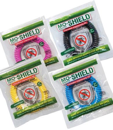 Mo-Shield Αντικουνουπικό Βραχιόλι Σιλικόνης Κίτρινο 1 τεμάχιο