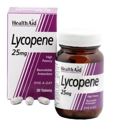 Health Aid Lycopene 25mg Natural antioxidant 30tabs