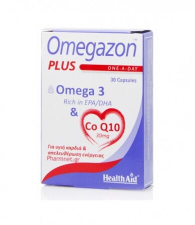 Health Aid Omegazon Capsules 750mg, Ωμέγα 3, 30 Κάψουλες