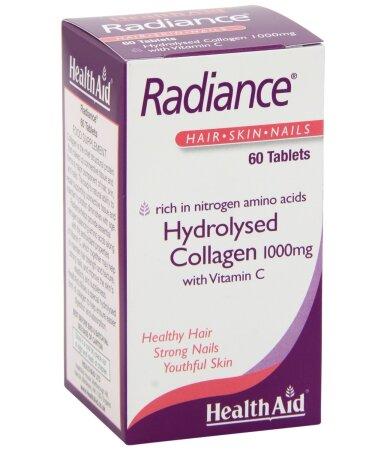 Health Aid Radiance COLLAGEN, με Vitamin C & Zink, Κολλαγόνο για Όμορφα Μαλλιά, Νύχια & Υγιές Δέρμα 60tabs
