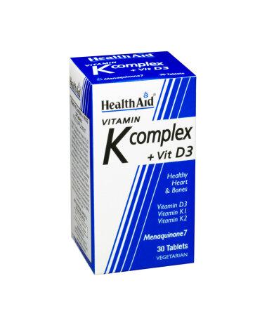 Health Aid Vitamin K Complex & Vitamin D3 30 Κάψουλες