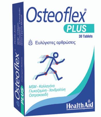 Health Aid Osteoflex Plus Γλυκοσαμίνη, Χονδροϊτίνη, MSM, Κολλαγόνο 30 Ταμπλέτες