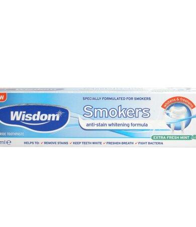 Wisdom Smokers Extra Fresh Mint Fluoride Toothpaste 50ml Anti Stain Formula