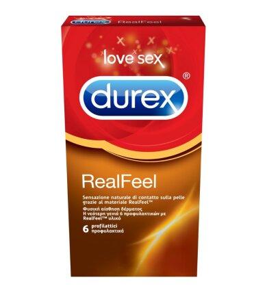 Durex RealFeel, Προφυλακτικά από Προηγμένο Υλικό χωρίς Λάτεξ για πιό Φυσική Αίσθηση 6 τεμάχια