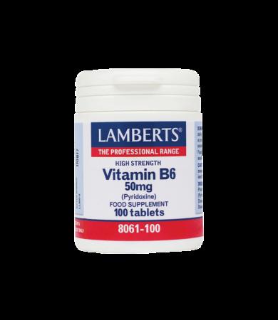 Lamberts B6 50mg 100Tabs