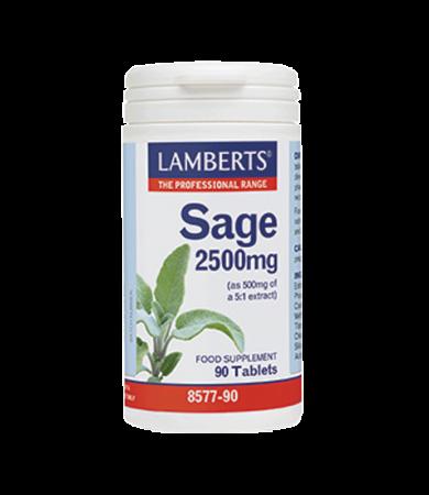 Lamberts Sage 2500mg 90Tabs