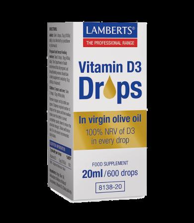 Lamberts Vitamin D3 Drops 20ml/600drops