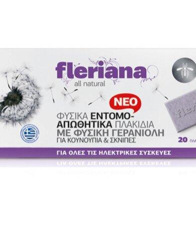 Power Health Fleriana Φυσικά Εντομοαπωθητικά Πλακίδια 20 τεμάχια
