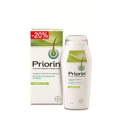 Bayer Priorin Shampoo Normal-Dry Hair Σαμπουάν Για Κανονικά-Ξηρά Μαλλιά Κατά Της Τριχόπτωσης
