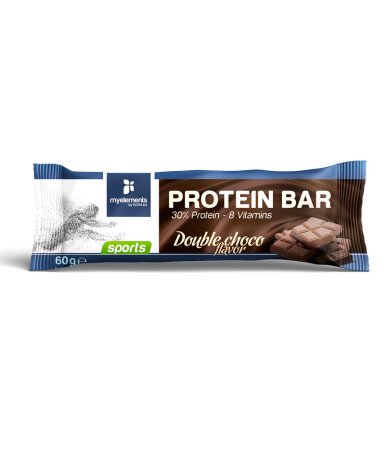 My Elements Sports Protein Bar Enriched with vitamins, with Double Chocolate Flavor, 60gr