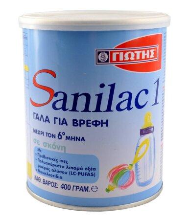 Sanilac 1 Γάλα 1ης Βρεφικής Ηλικίας 0-6 Μηνών 400g