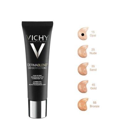 Vichy Dermablend 3D Make up για Επιδερμίδα με Τάση Ακμής Νο15 OPAL 30ml