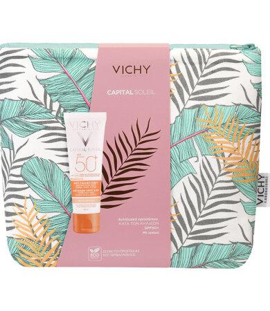 Vichy Capital Soleil Anti Spot SPF50+ Κατά Των Κηλίδων με Χρώμα 50ml & Δώρο Νεσεσέρ