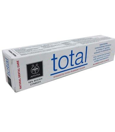 Apivita Natural Dental Care Total Οδοντόκρεμα για Ολοκληρωμένη Προστασία με Γεύση Δυόσμου & Πρόπολη 75ml