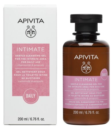 Apivita Intimate Daily - Απαλό Gel Καθαρισμού Για Την Ενυδάτωση Για Την Ευαίσθητη Περιοχή 200ml