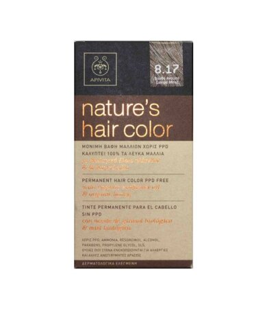 Apivita nature's hair color n8.17
