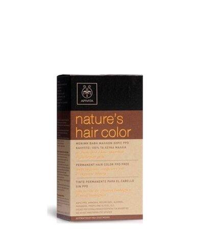 Apivita Nature's Hair Color Μόνιμη Βαφή Μαλλιών Χωρίς PPD, 4.05 Κάστανο