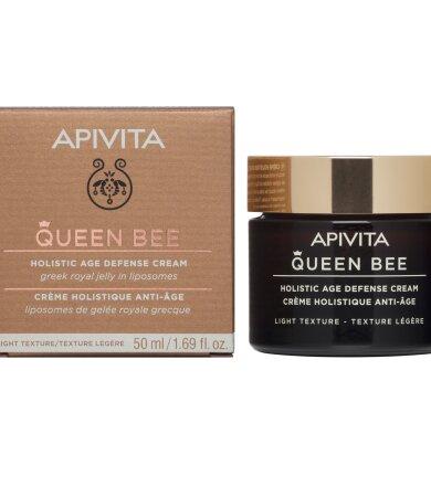 Apivita Queen Bee Κρέμα Ημέρας Ολιστικής Αντιγήρανσης Ελαφριάς Μορφής με Ελληνικό Βασιλικό Πολτό 50ml
