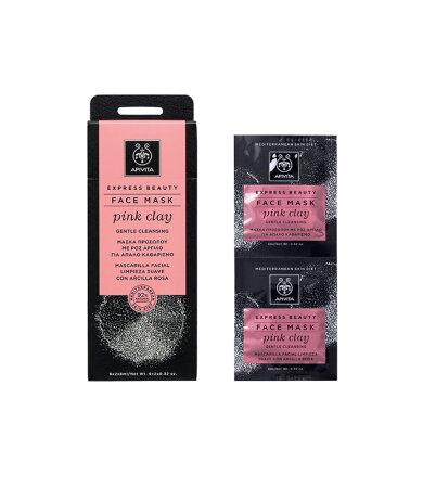 Apivita Express Beauty Μάσκα Προσώπου με Ροζ Άργιλο 2x8ml