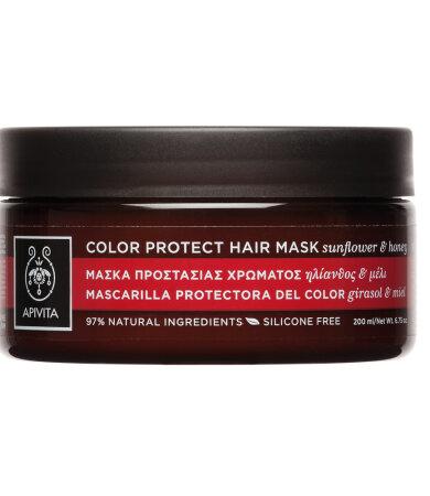 Apivita Color Protect Hair Μάσκα Προστασίας Χρώματος για Βαμμένα Μαλλιά με Ηλίανθο & Μέλι 200ml