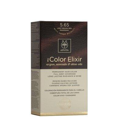 Apivita My Color Elixir Μόνιμη Βαφή Μαλλιών No 5.65 Καστανό Ανοιχτό Κόκκινο Μαονί