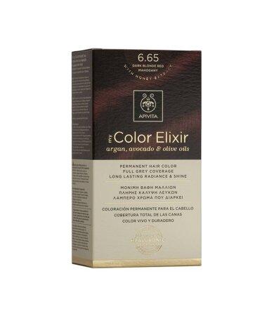 Apivita My Color Elixir Μόνιμη Βαφή Μαλλιών No 6.65 Έντονο Κόκκινο