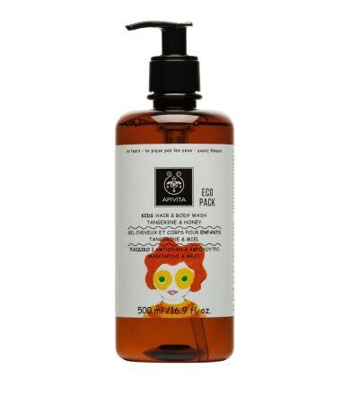 Apivita Παιδικό Σαμπουάν & Αφρόλουτρο Μανταρίνι/Μέλι Ecopack 500ml