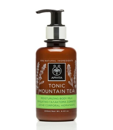 Apivita Tonic Mountain Tea Body Milk Γαλάκτωμα Σώματος 200ml
