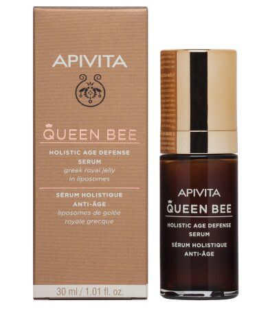 Apivita Queen Bee Ορός Ολιστικής Αντιγήρανσης με ελληνικό βασιλικό πολτό σε λιποσώματα 30ml
