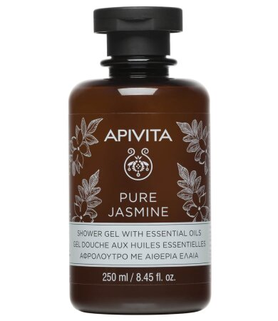 Apivita Pure Jasmine Shower Gel Αφρόλουτρο με Αιθέρια Έλαια 250ml