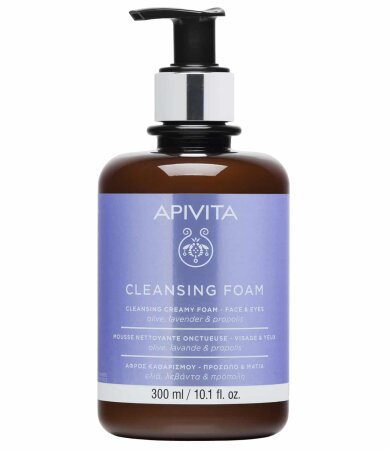Apivita Promo Limited Edition Κρεμώδης Αφρός Καθαρισμού Για Πρόσωπο & Μάτια 300ml