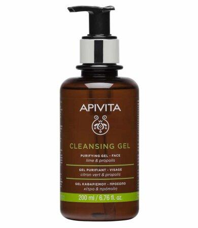 Apivita Gel Καθαρισμού Για Λιπαρές & Μεικτές Επιδερμίδες με πρόπολη & lime 200ml