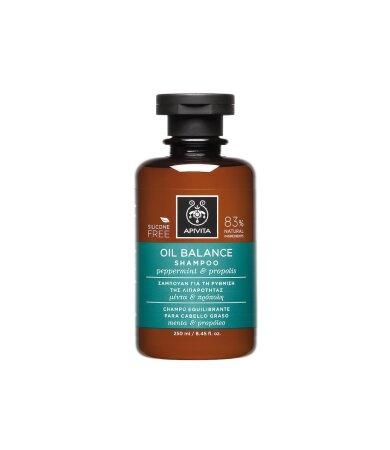 Apivita Oily Hair Σαμπουάν Για Τη Ρύθμιση Της Λιπαρότητας Με Μέντα & Πρόπολη 250ml