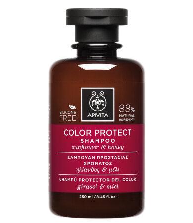 Apivita Σαμπουάν Προστασίας Χρώματος με Ηλίανθο και Μέλι 250ml