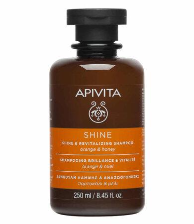 Apivita Σαμπουάν Λάμψης & Αναζωογόνησης Πορτοκάλι & Μέλι 250ml